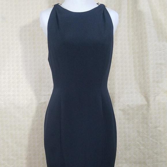 Niteline Dresses & Skirts - Niteline Della Roufogali Dress w/Gold Ring Accents